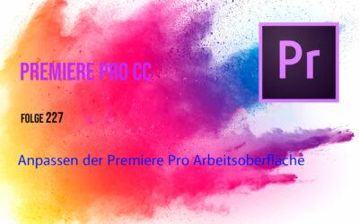 Anpassen der Premiere Pro Oberfläche
