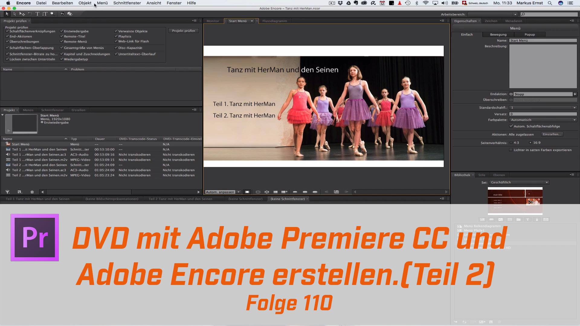 DVD mit Premiere CC und Encore erstellen Teil 2
