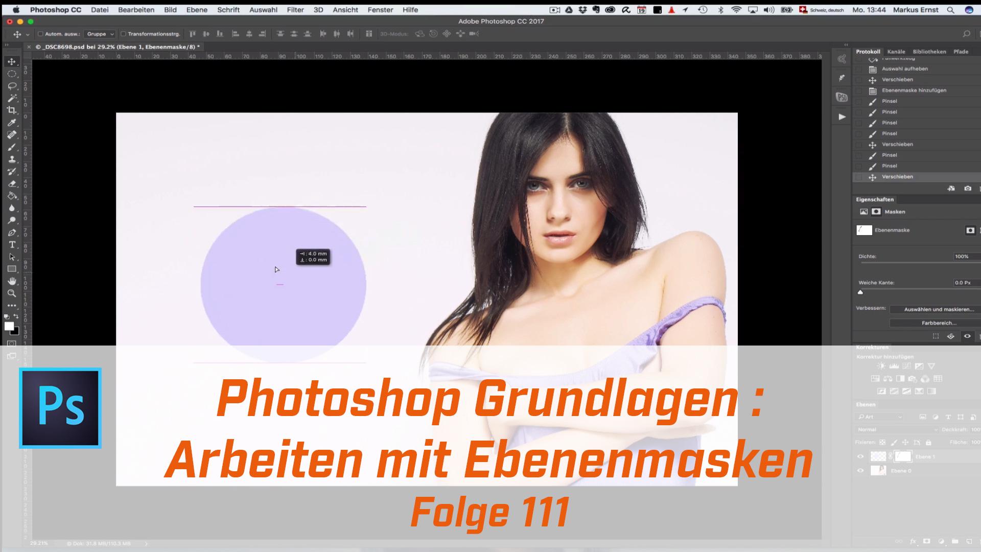 Photoshop Grundlagen : Ebenemasken