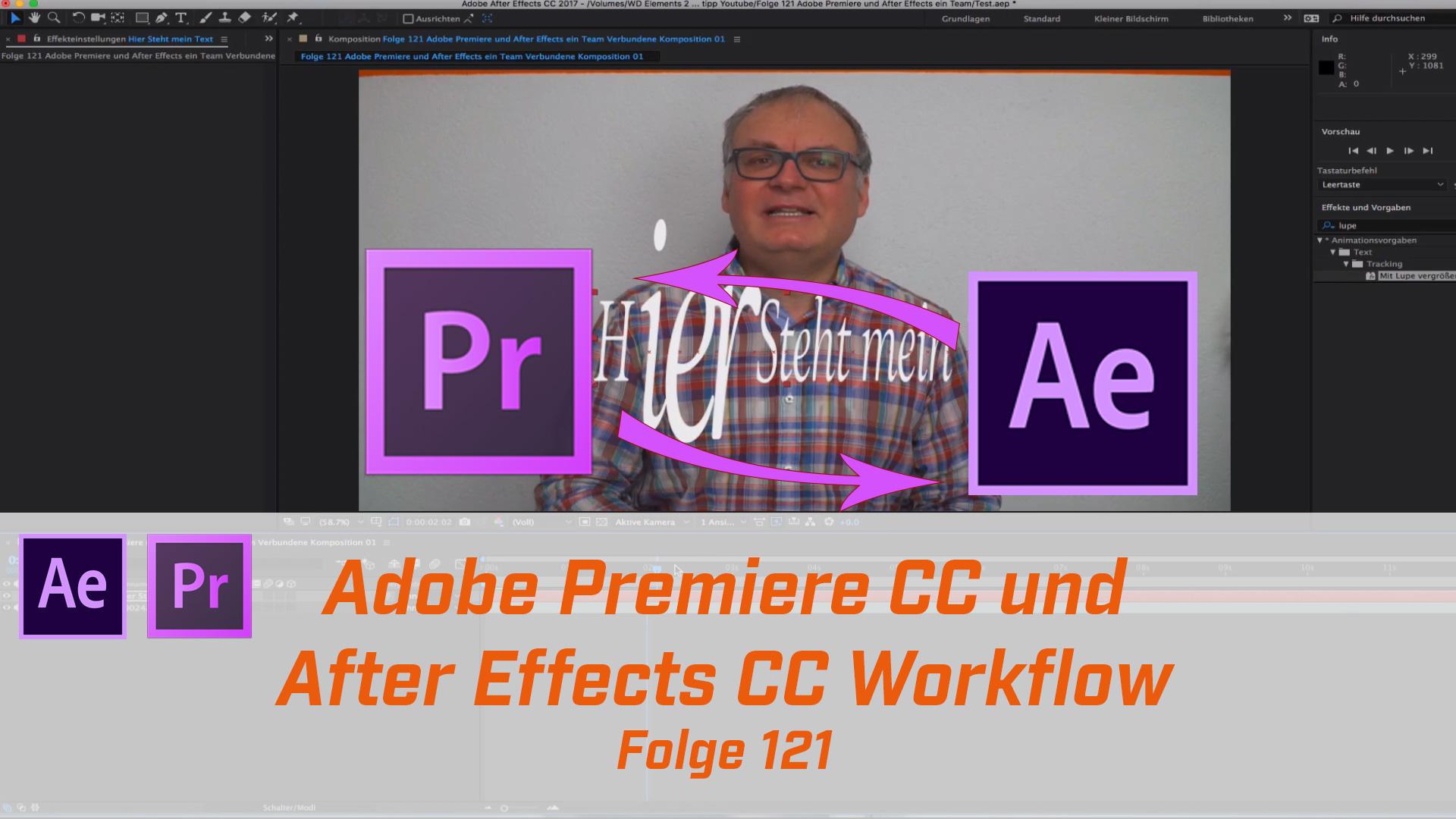 Adobe Premiere und After Effects Workflow