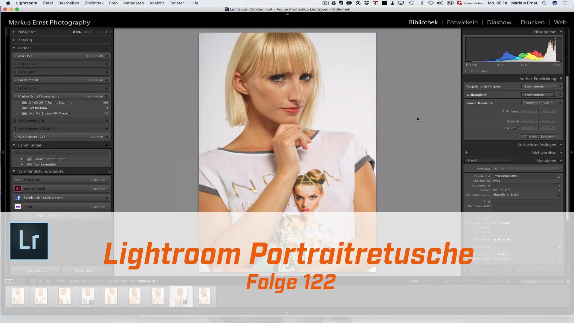 Lightroom Portraitretusche Workflow