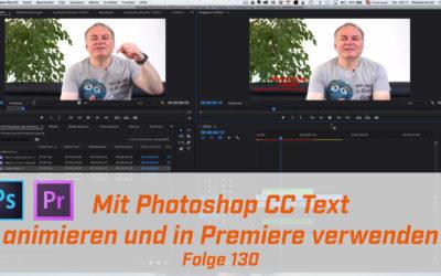Texte in Photoshop animieren.