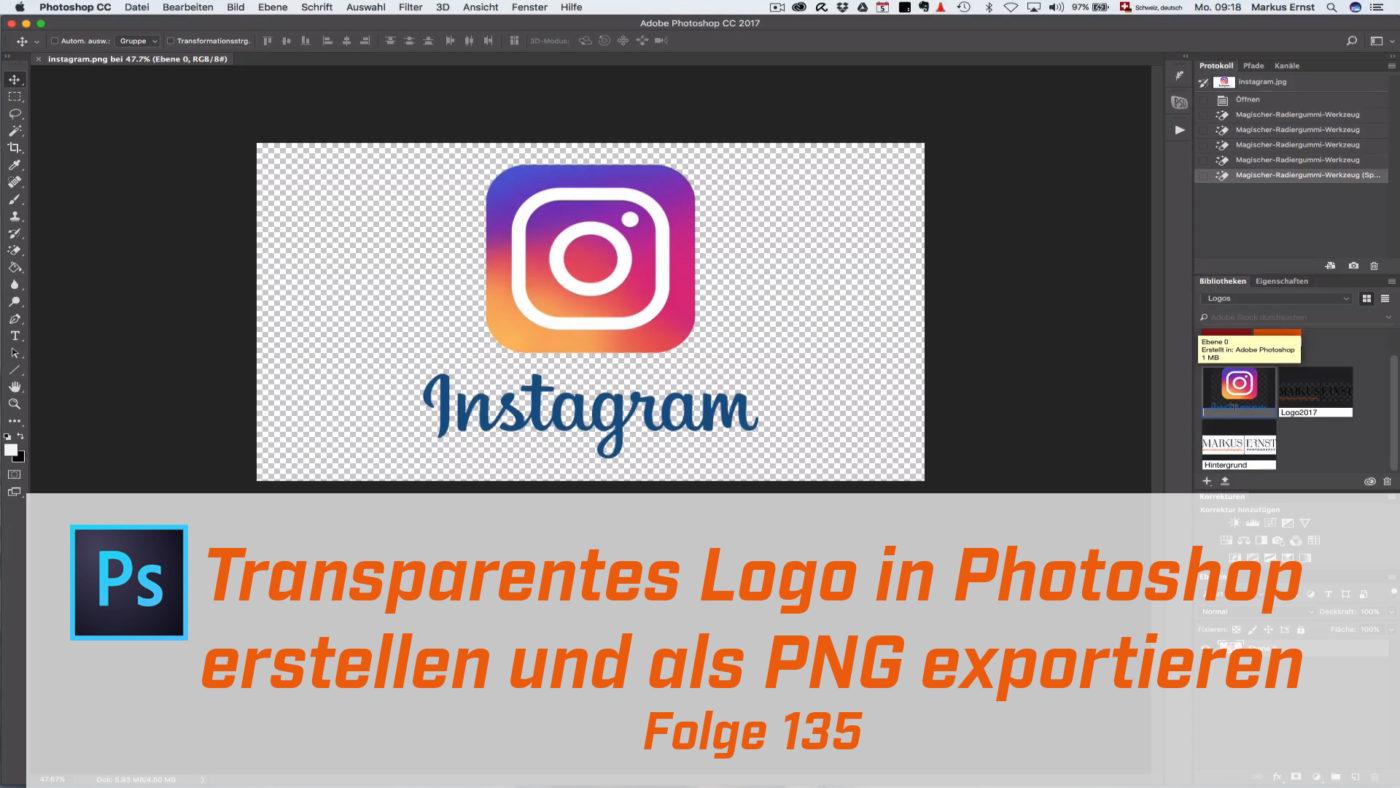 Transparentes Logo in Photoshop erstellen und als PNG exportieren ...
