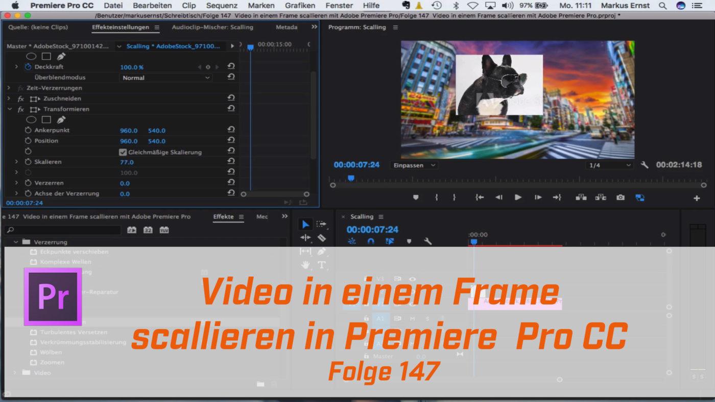 Video in einem Frame scallieren mit Adobe Premiere Pro | Markus ...