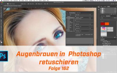 Augenbrauen in Photoshop retuschieren