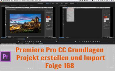 Premiere Anfänger Tutorial: Projekt erstellen und Import