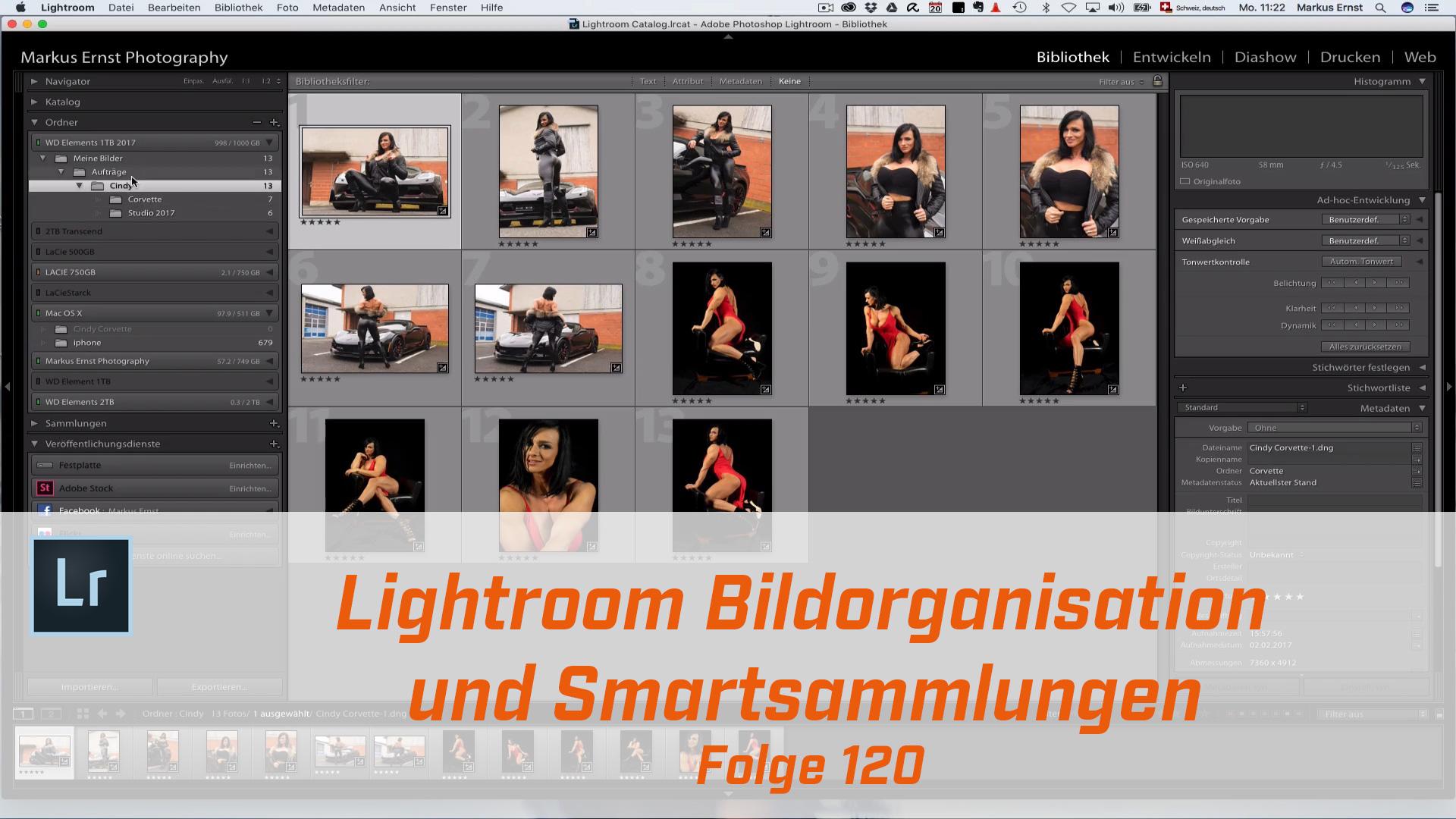Adobe Lightroom Bildorganisation und Smartsammlungen