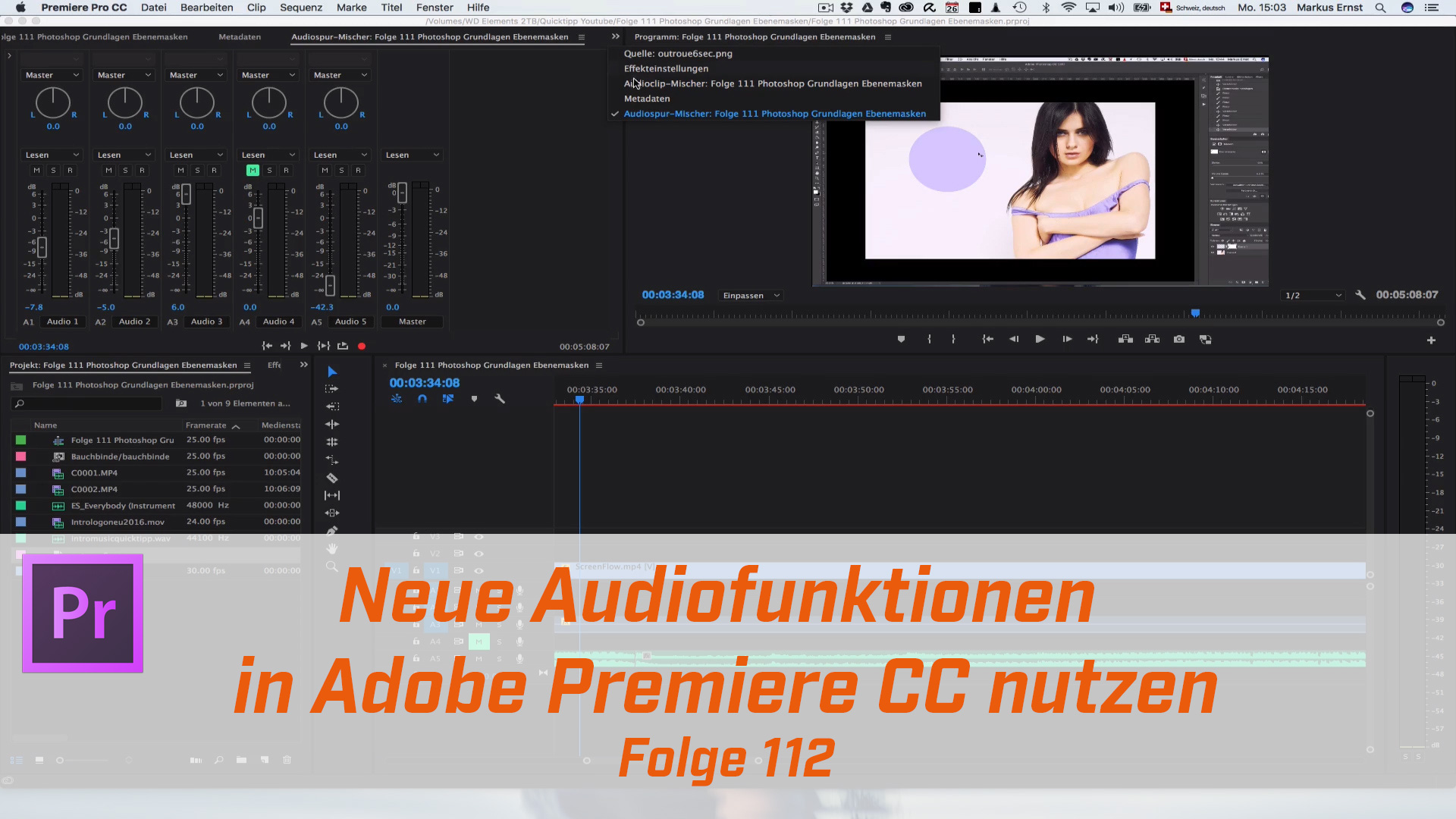 Premiere CC : Neue Audiofunktion