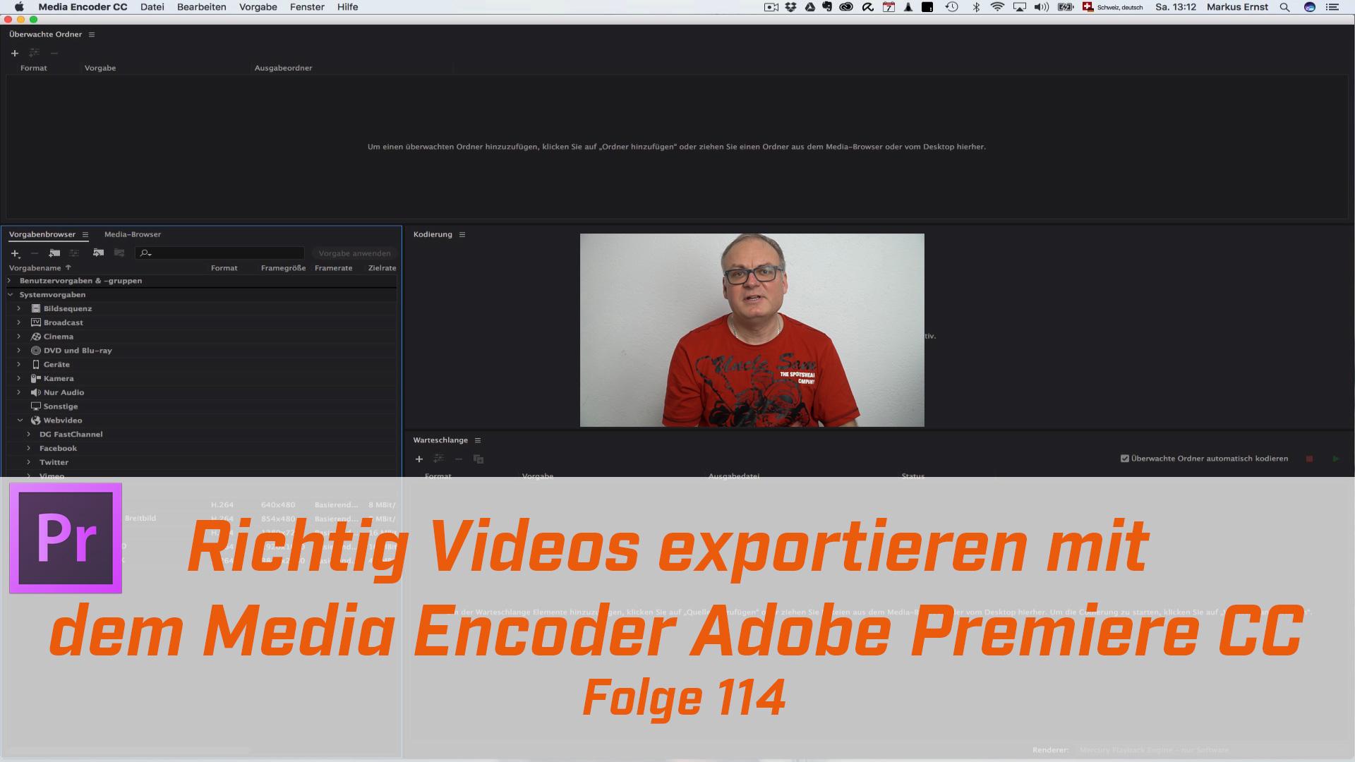 Richtig Videos exportieren mit dem Media Encoder Premiere Pro CC