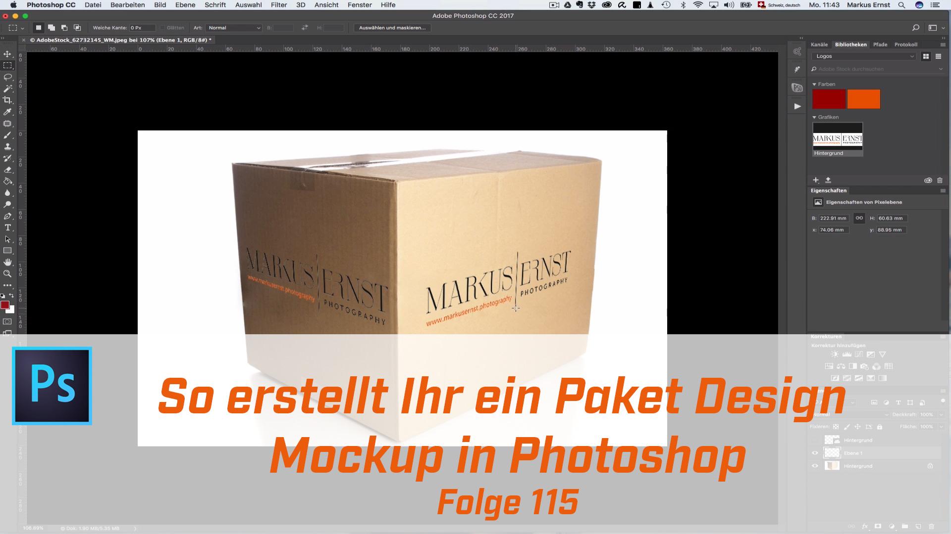 So erstellt Ihr ein Paket Design Mockup in Photoshop