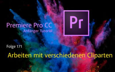 Premiere Pro Anfänger Tutorial : Arbeiten mit verschiedenen Cliparten