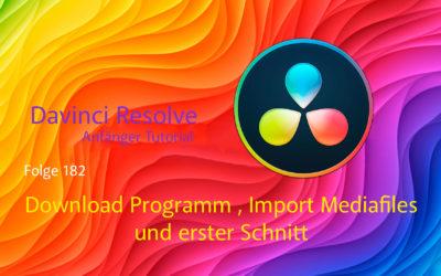 Davinci Resolve Anfänger Tutorial: Download Programm,Import Mediafiles und erster Schnitt