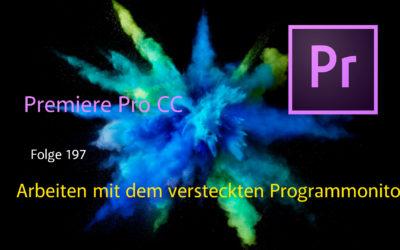 Arbeiten mit dem versteckten Programmonitor in Premiere Pro CC