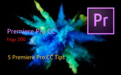 5 Tips in Premiere Pro CC die man wissen sollte