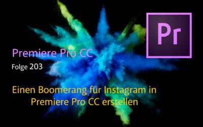 Einen Boomerang für Instagram in Premiere Pro CC erstellen