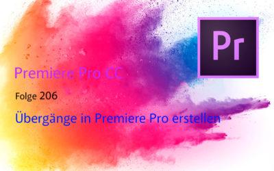 Übergänge in Premiere Pro CC erstellen (Anfänger)