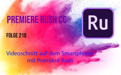 Vidoeschnitt auf dem Smartphone mit  Adobe Premiere Rush