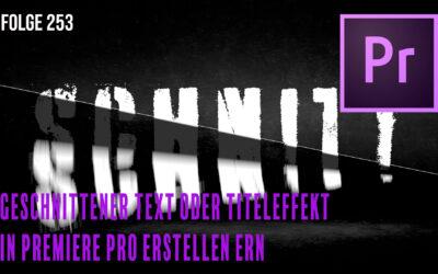 Geschnittener Text oder Titeleffekt in Premiere Pro erstellen