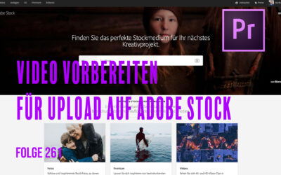 Video für Upload auf Stockplattform in Premiere pro vorbereiten