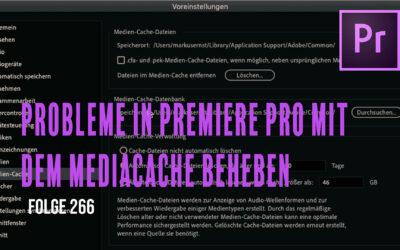 Probleme in Premiere Pro mit dem Mediachache beheben # Folge 266