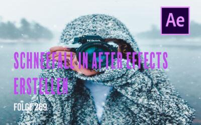 Schneefall in After Effects erzeugen  # Folge 269