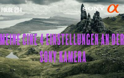 Meine Cine 4 Einstellungen an der Sony Kamera# Folge 294