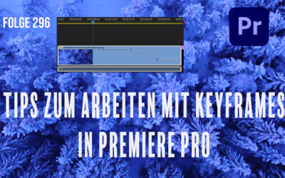 Tips zum arbeiten mit Keyframes in Premiere Pro # Folge 296